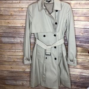 Theory 97% cotton classic trench coat-Sz L